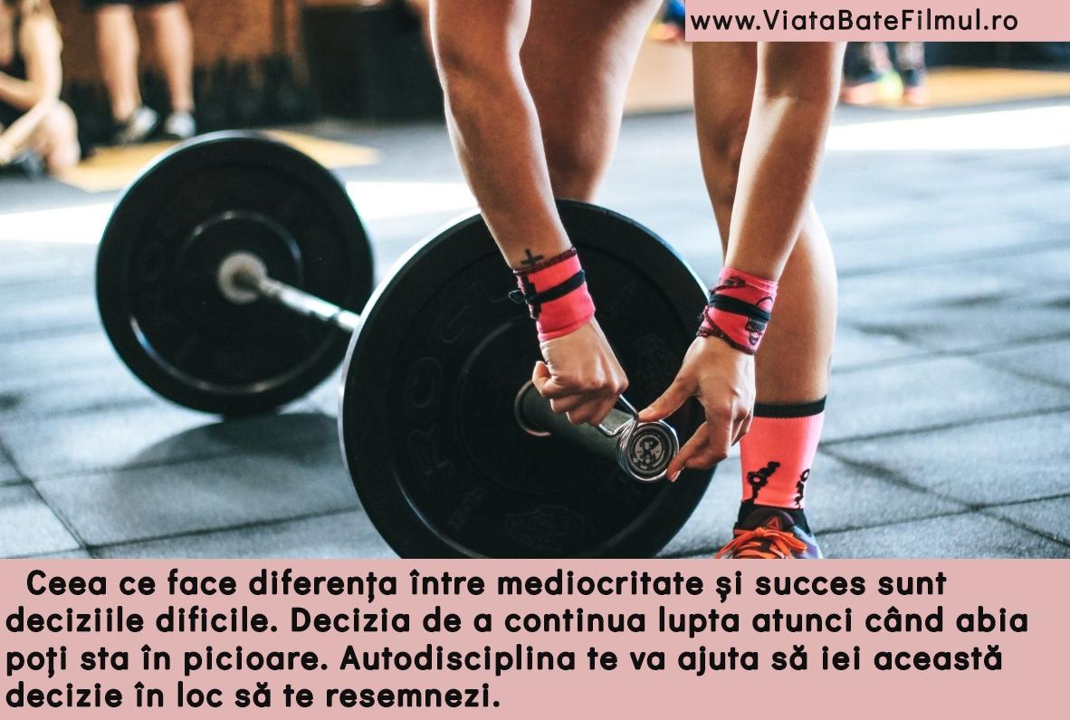Autodisciplina este cheia succesului